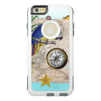 Tropische Blauwe Collage OtterBox iPhone 6/6s Plus Hoesje