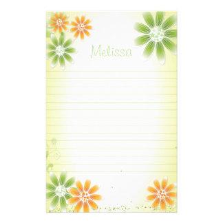 """Tropische Bloemen 5.5 de Kantoorbehoeften van"""" x Briefpapier"""