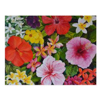 Tropische Bloemen Briefkaart