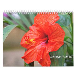Tropische Bloemen Kalender