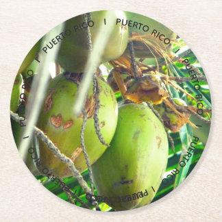 Tropische de Kokosnoten van Puerto Rico Ronde Onderzetter