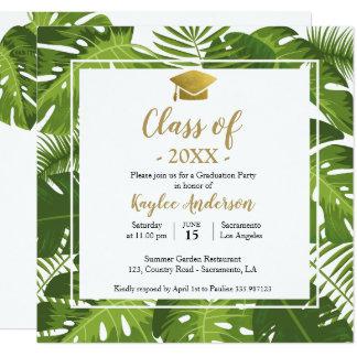 Tropische de uitnodigingskaart van de Foto van Kaart