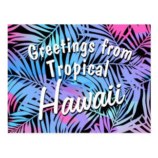 Tropische gekleurde palmen briefkaart