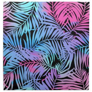 Tropische gekleurde palmen katoenen servet