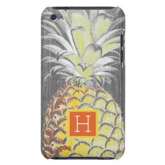 Tropische Gele Pinneapple op Grijs iPod Touch Hoesje