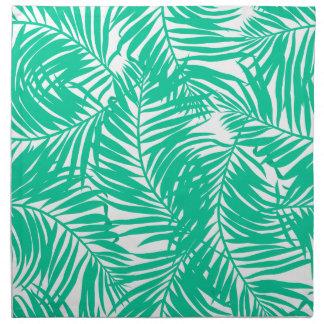 Tropische groene palmbladen servet