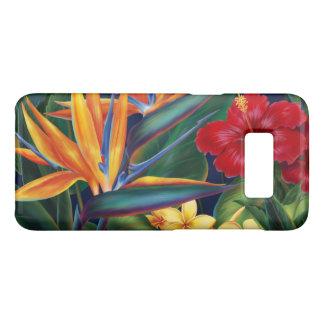 Tropische Hawaiiaanse Bloemen Horizontaal van het Case-Mate Samsung Galaxy S8 Hoesje