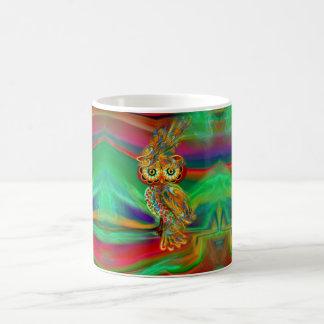 Tropische Mode Koningin Owl Mug Koffiemok