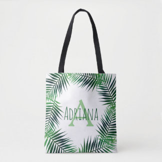 Tropische Palmbladen & Aanvankelijke Brief met Draagtas