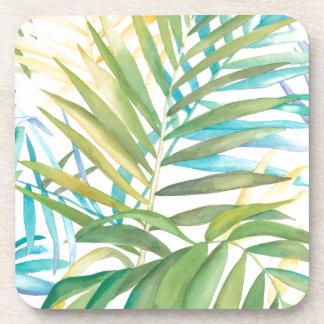 Tropische Palmbladen Drankjes Onderzetters