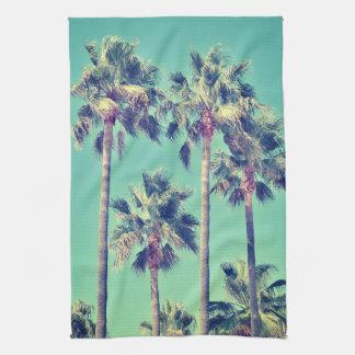 Tropische Palmen op Wintertaling Theedoek