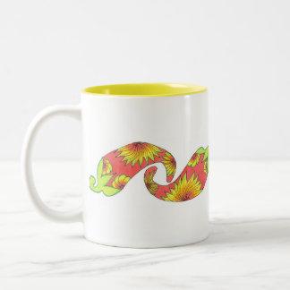 Tropische rood-Oranje Peper Tweekleurige Koffiemok