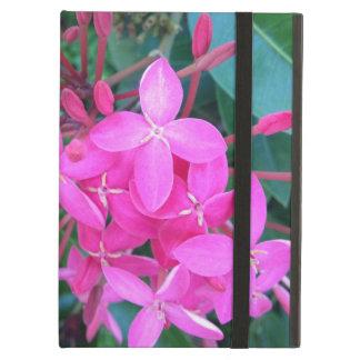 Tropische Roze Bloem Ixora iPad Air Hoesje