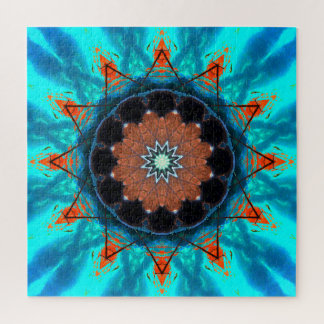Tropische Sterren Mandala Puzzel