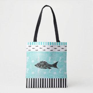 Tropische Vissen en ZeevaartCanvas tas Seahorse