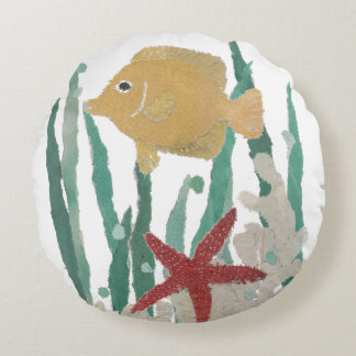 Tropische Vissen om Hoofdkussen Rond Kussen