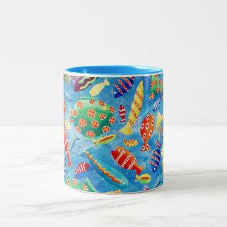 Tropische Vissen Tweekleurige Koffiemok