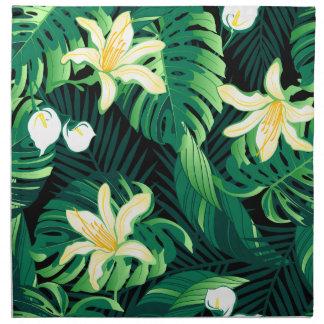 Tropische weelderige bloemen servet