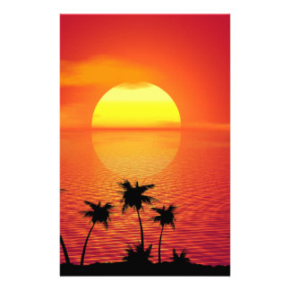 Tropische Zonsondergang Briefpapier