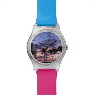 Tropische Zonsondergang Horloge