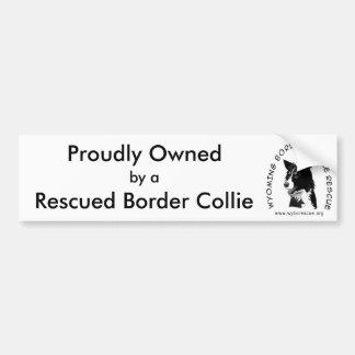 Trots Bezeten door Gered Border collie Bumpersticker