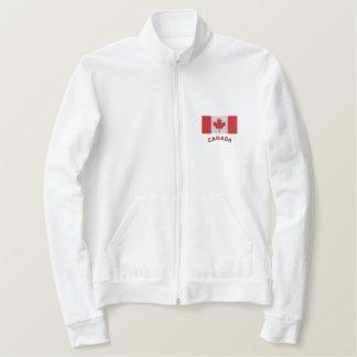 Trots om Canadese Sweater te zijn Geborduurd Fleece Jack