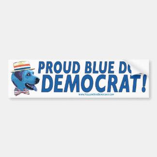 Trots om een Blauwe Sticker van de Bumper van de D Bumpersticker