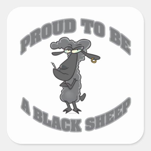 Trots om een zwart schaap te zijn vierkante stickers zazzle - Om een e b e bbinnenkap te creeren ...