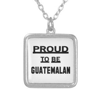 Trots om Guatemalaans te zijn Zilver Vergulden Ketting