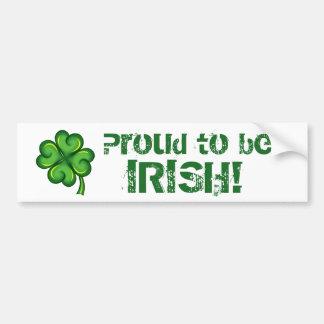 Trots om Iers te zijn! Bumpersticker