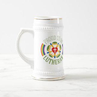 """""""Trots om Lutheran"""" Stenen bierkroes van het Bier Bierpul"""
