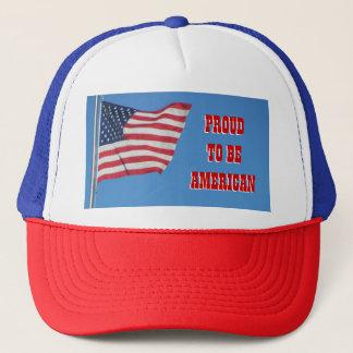 Trots om met Vlag Amerikaans te zijn Trucker Pet