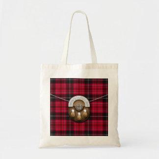 Trots van het Geruite Schotse wollen stof en het Draagtas