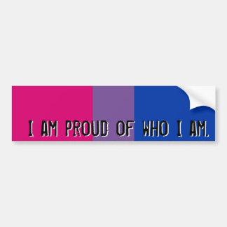 Trots van wie ik - de Biseksuele sticker van de vl