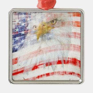 Trotse de V.S. Zilverkleurig Vierkant Ornament