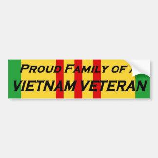 Trotse Familie van een Veteraan van Vietnam Bumpersticker