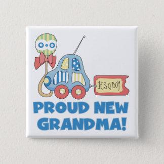 Trotse Nieuw oma-het is de T-shirts en de Giften Vierkante Button 5,1 Cm
