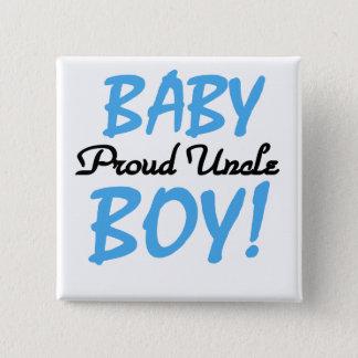 Trotse Oom Baby Boy T-shirts en Giften Vierkante Button 5,1 Cm