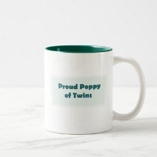 Trotse Papaver van Tweelingen Tweekleurige Koffiemok