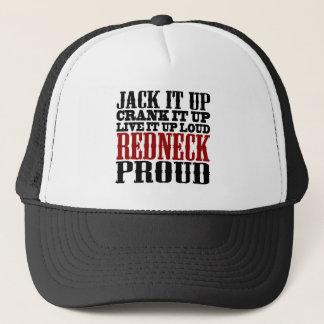 Trotse Redneck (Zwart en Rood) Trucker Pet