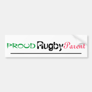 trotse rugbyouder bumpersticker