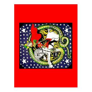 trotsky dodend de tegen revolutionaire draak briefkaart