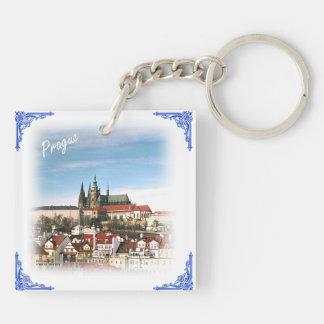 Tsjechisch republiek-Praag en kasteel keychain Sleutelhanger