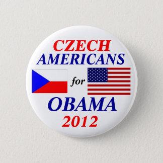 Tsjechische Amerikanen voor Obama Ronde Button 5,7 Cm