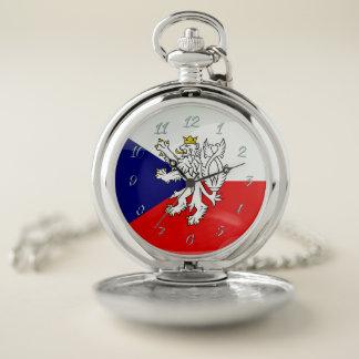 Tsjechische glanzende vlag zakhorloge