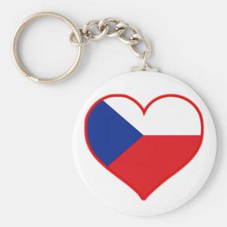Tsjechische Liefde Basic Ronde Button Sleutelhanger