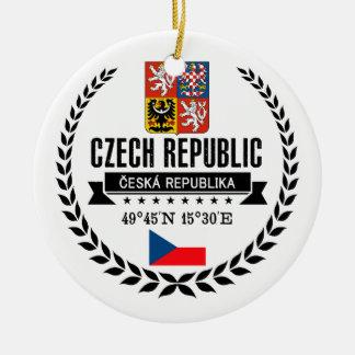 Tsjechische Republiek Rond Keramisch Ornament