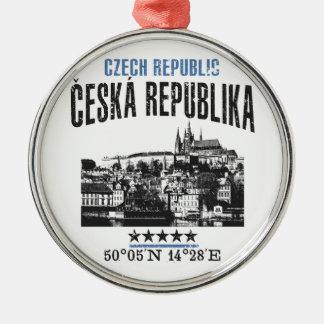 Tsjechische Republiek Zilverkleurig Rond Ornament