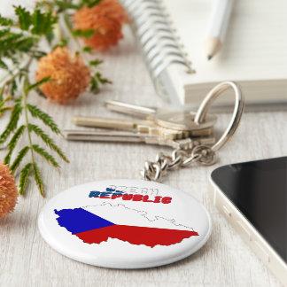 Tsjechische vlag sleutelhanger
