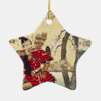 Tsukioka Yoshitoshi - Yoshitsune en Benkei Keramisch Ster Ornament